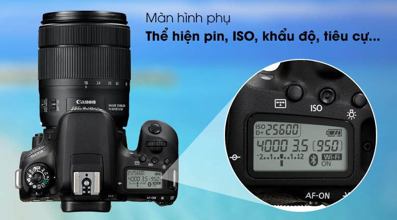 Màn hình phụ - Máy ảnh DSLR Canon EOS 77D 18-135 IS STM