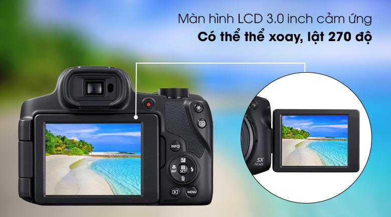 Màn hình LCD cảm ứng 3.0 inch xoay lật 270⁰ - Máy ảnh Compact Canon Powershot SX70HS