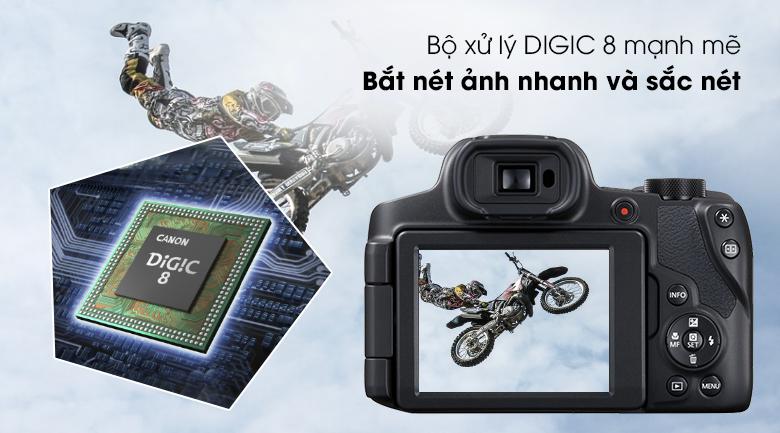 Bộ xử lý DIGIC 8 mạnh mẽ, xử lý nhanh - Máy ảnh Compact Canon Powershot SX70HS