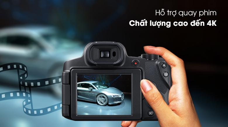 Quay phim chất lượng 4K siêu sắc nét - Máy ảnh Compact Canon Powershot SX70HS
