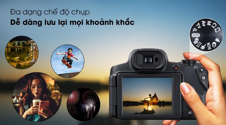 Đa dạng chế độ chụp, dễ dàng hơn khi sử dụng - Máy ảnh Compact Canon Powershot SX70HS