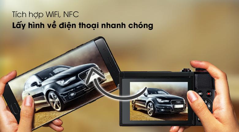 Lấy hình về điện thoại nhanh chóng, dễ dàng nhờ tích hợp WiFi, NFC - Máy ảnh Compact Canon Powershot SX70HS