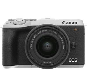 Máy ảnh Mirrorless Canon EOS M6 Mark II Kit 15-45 mm Bạc