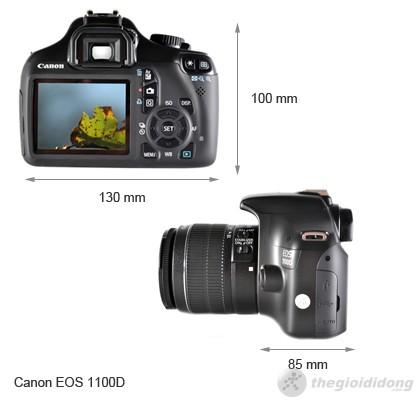 Kích thước của Canon EOS 1100D