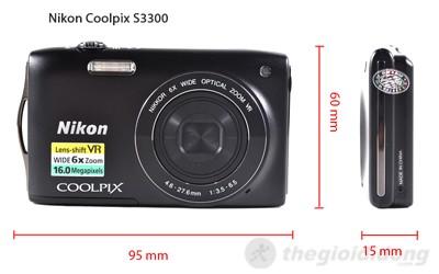 Kích thước của Nikon Coolpix S3300