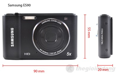 Kích thước của Samsung ES90