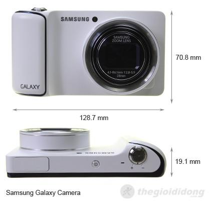 Kích thước của Samsung Galaxy Camera