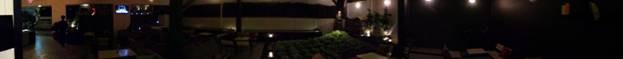 Chụp Panorama góc rộng đạt 360 độ lấy toàn cảnh trong không gian quán cafe buổi tối