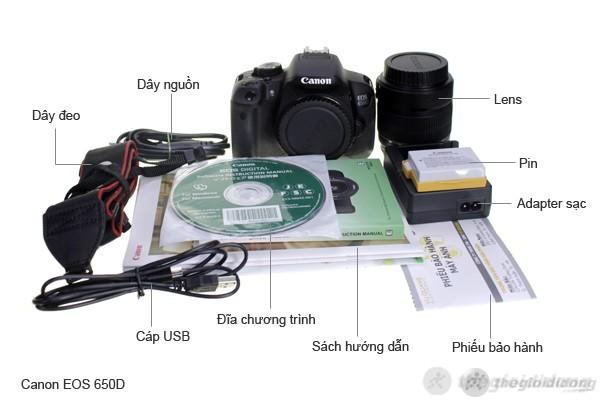 Bộ bán hàng chuẩn của Canon EOS 650D