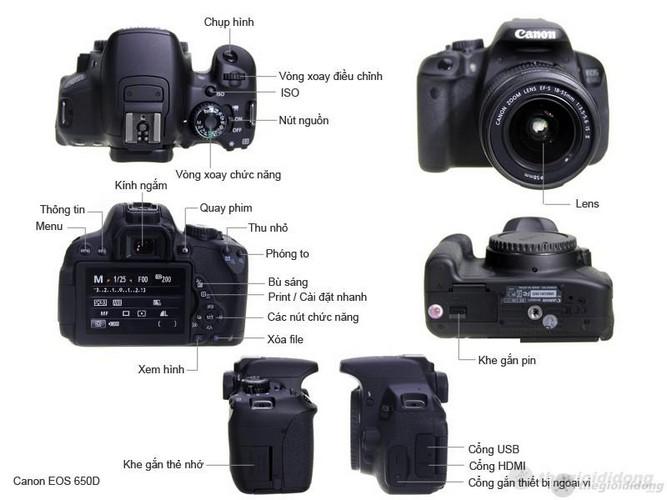 Mô tả chức năng của Canon EOS 650D