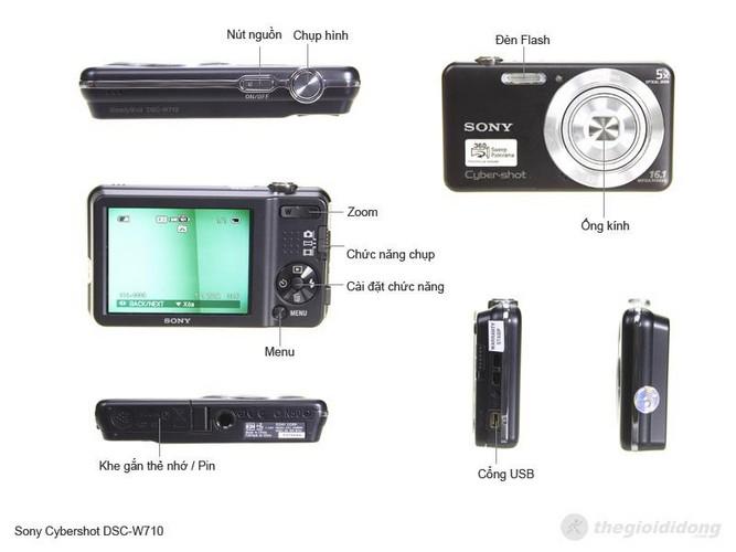 Sony Cybershot DSC-W710 mô tả chức năng