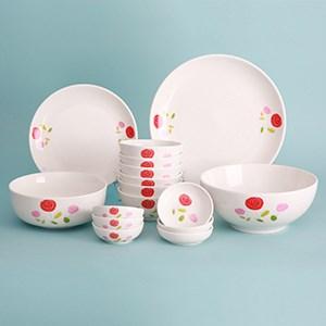 Bộ tô chén đĩa gốm sứ Donghwa 16 món DH02 11 cm