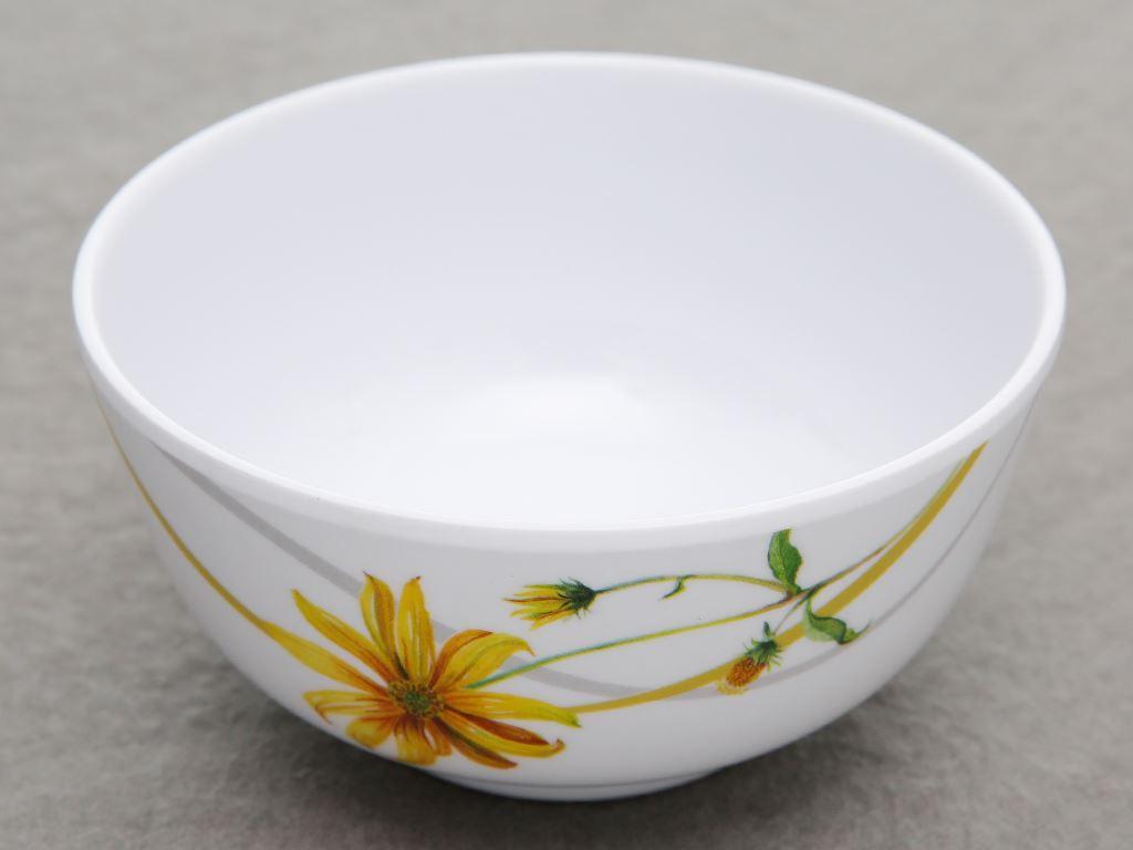 Chén cơm nhựa melamine Vinh Cơ AC06 hoa cúc vàng 1