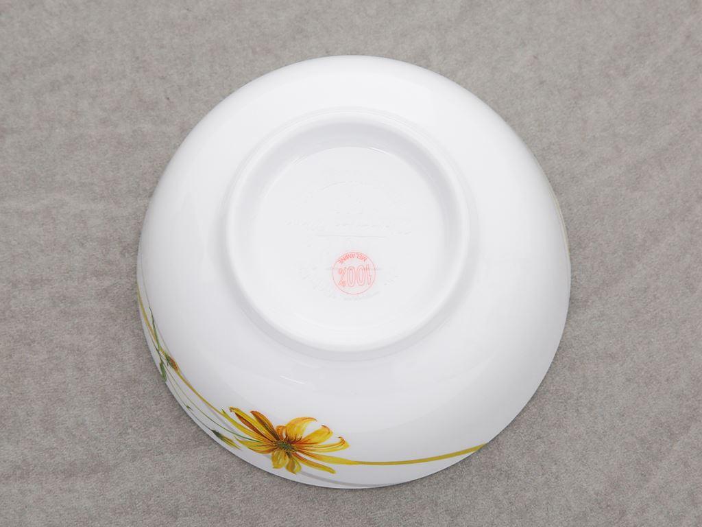 Chén cơm nhựa melamine Vinh Cơ AC06 hoa cúc vàng 3