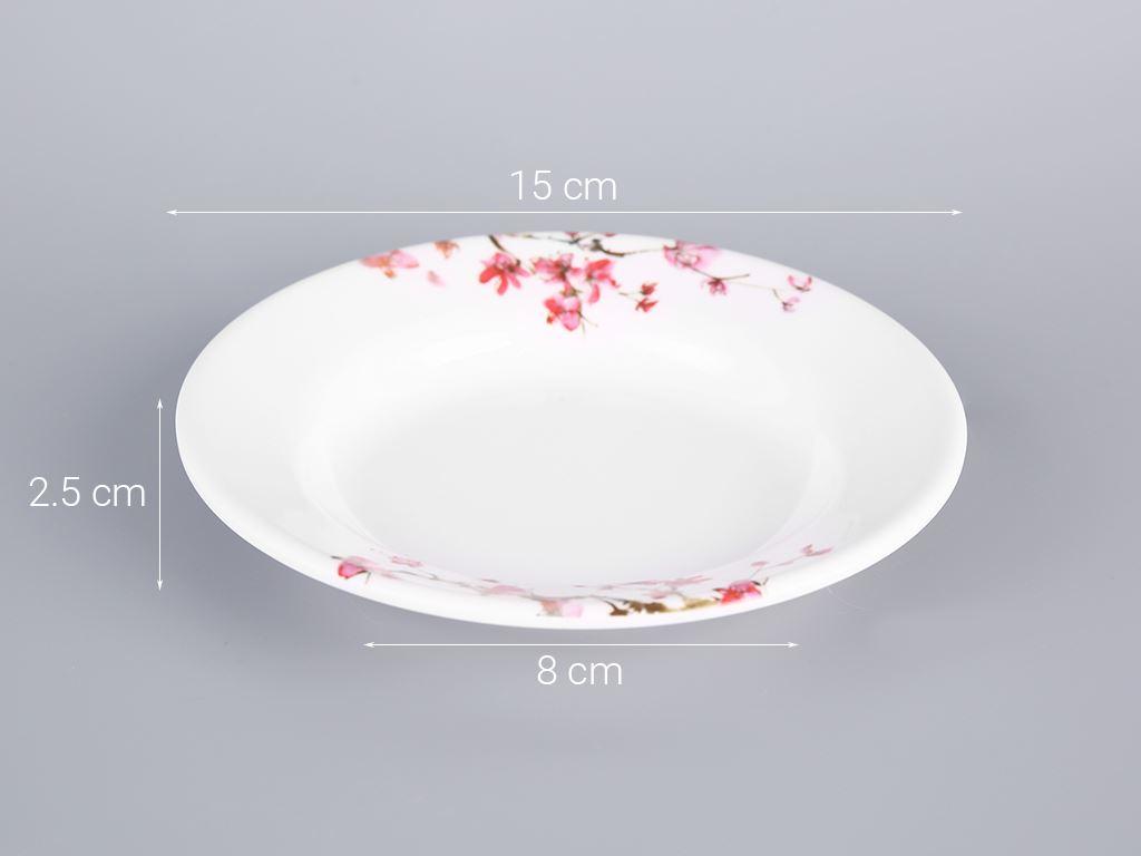 Dĩa nhựa melamine sâu Vinh Cơ A5206 hoa anh đào 5
