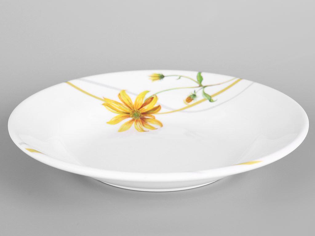 Dĩa nhựa melamine sâu Vinh Cơ A5207 hoa cúc vàng 1
