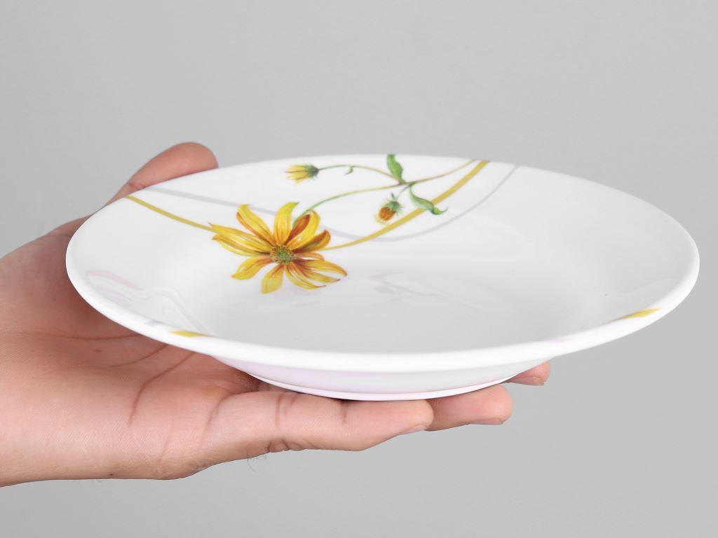 Dĩa nhựa melamine sâu Vinh Cơ A5207 hoa cúc vàng 4