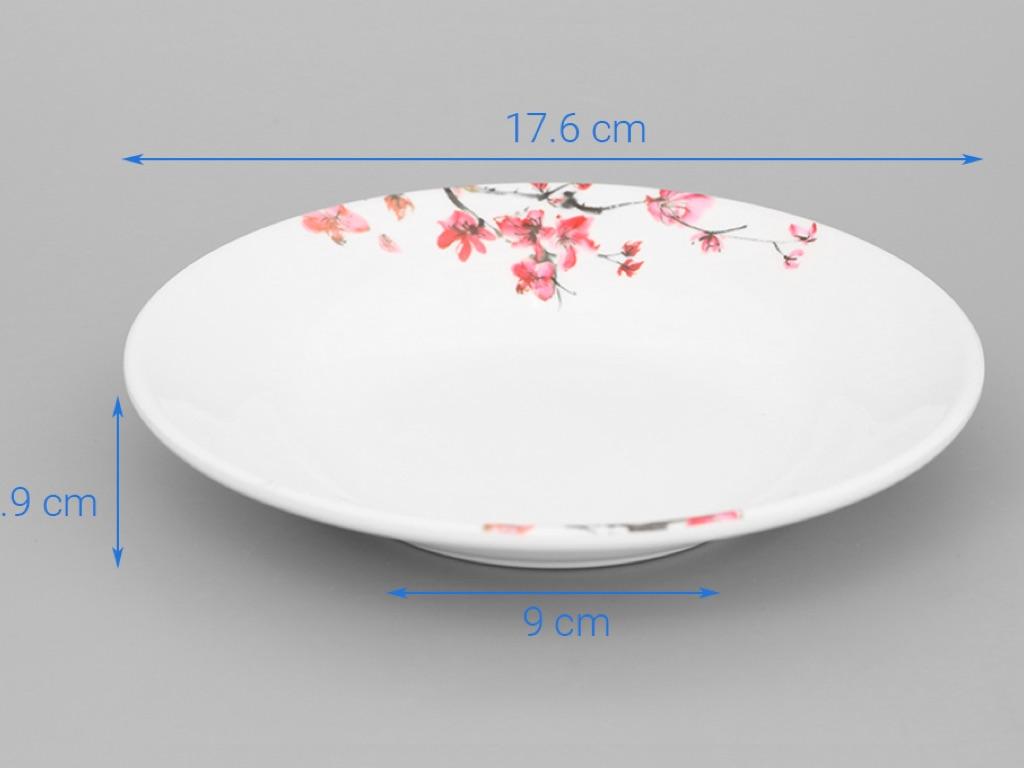 Dĩa nhựa melamine Vinh Cơ A5207 hoa anh đào 4