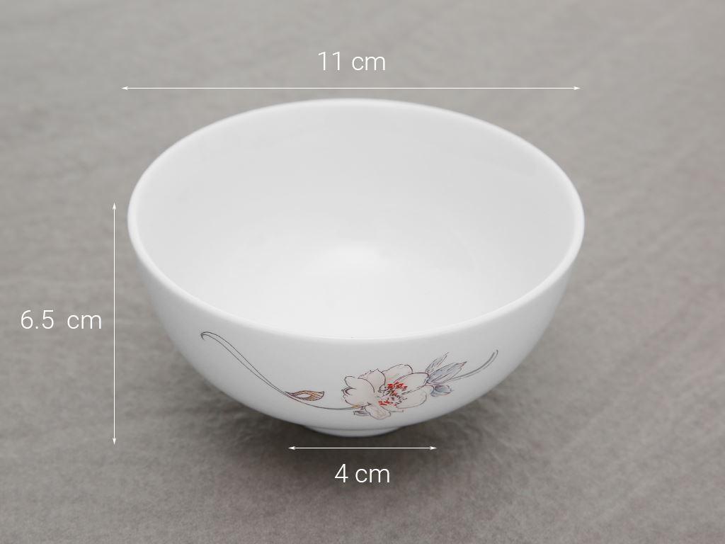 Chén cơm sứ Minh Châu MC-C06 hoa hồng 5