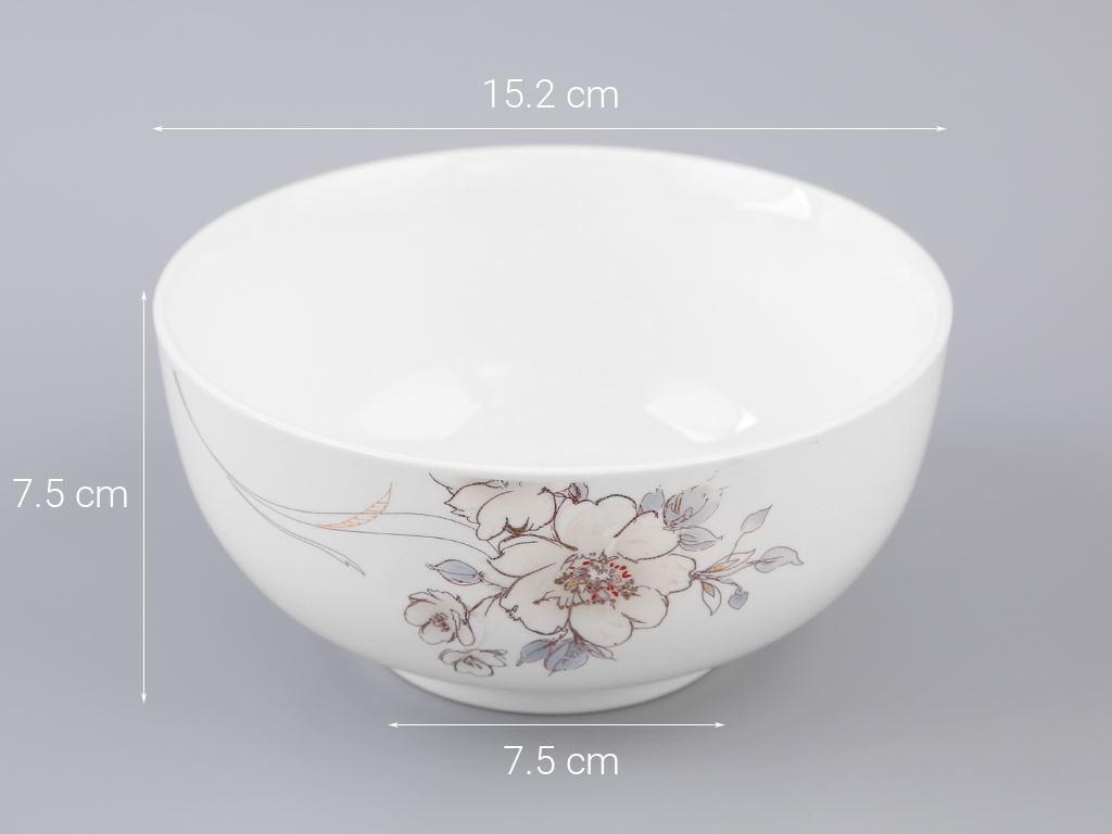 Tô sứ Minh Châu MC-TH06 hoa hồng 5