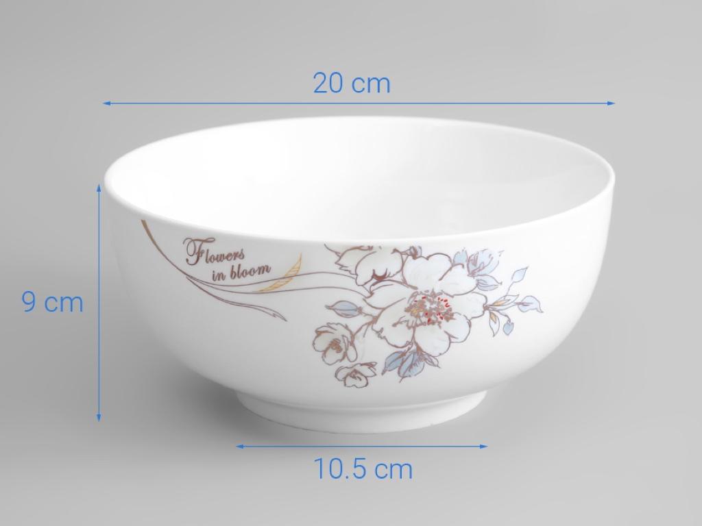 Tô sứ Minh Châu MC-TH08 hoa hồng 4