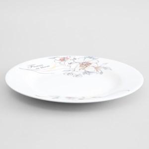 Dĩa cạn sứ 18 cm Minh Châu MC-D07 18 cm