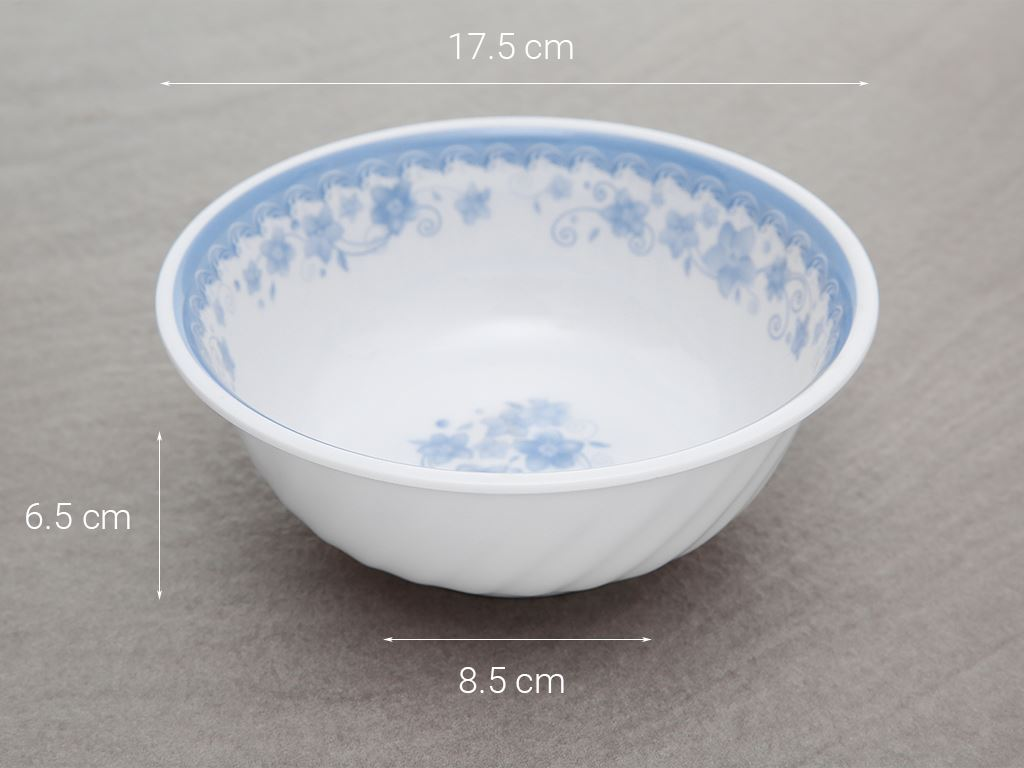 Tô nhựa melamine Vinh Cơ 7 A807 CH in hoa 5