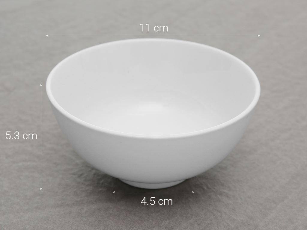 Chén cơm sứ Hảo Cảnh HC01 trắng 5