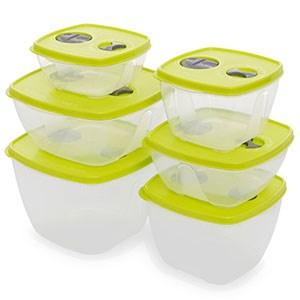 Bộ 6 hộp nhựa Thái Lan Pioneer HN001-6 500 ml, 900 ml, 1L, 1.7L, 1.8L, 2.8L
