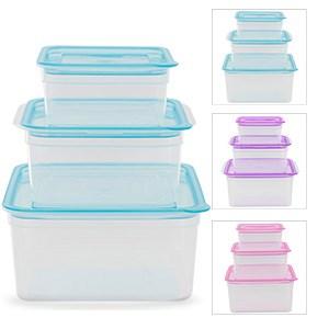 Bộ 3 hộp nhựa Thái Lan dùng được lò vi sóng 300, 650, 1100 ml JCJ-H03-01 300 ml, 650 ml, 1.1 lít
