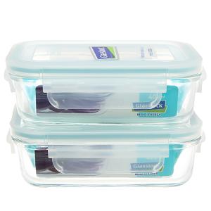 Bộ 2 hộp thủy tinh 400ml và túi giữ nhiệt Glasslock 2 hộp