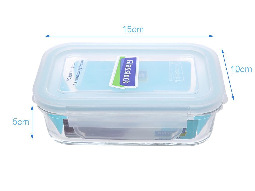 Bộ 2 hộp cơm thủy tinh 400 ml Glasslock và túi giữ nhiệt 4
