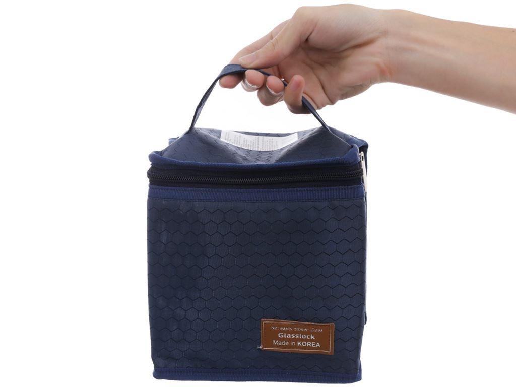 Bộ 3 hộp thủy tinh 400 ml Glasslock và túi giữ nhiệt 4