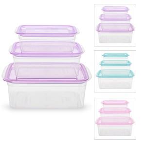 Bộ 3 hộp nhựa Thái Lan dùng được lò vi sóng JCJ HN002-3 300 ml, 650 ml, 1.05 lít