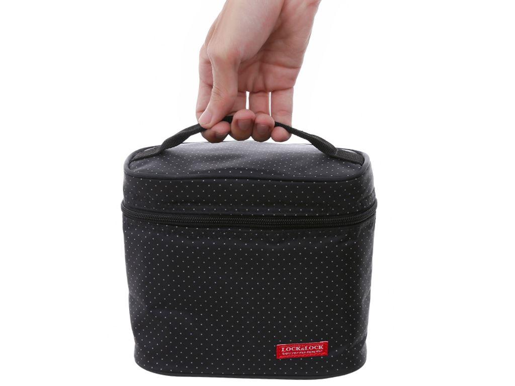 Bộ 3 hộp nhựa chữ nhật Lock&Lock HPL754DB và túi giữ nhiệt 2