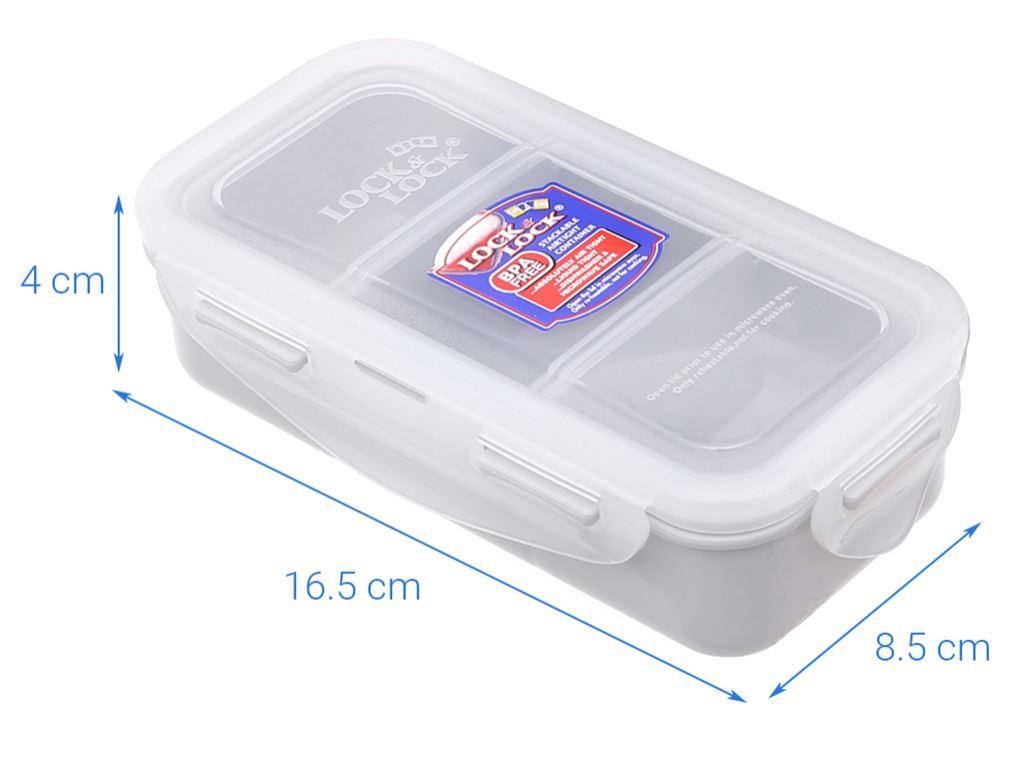 Bộ 3 hộp nhựa chữ nhật Lock&Lock HPL754DB và túi giữ nhiệt 5