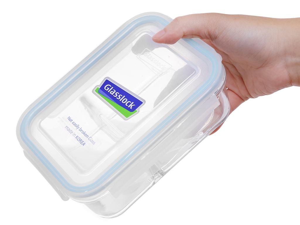 Bộ 2 hộp thủy tinh chữ nhật Glasslock và túi giữ nhiệt 2
