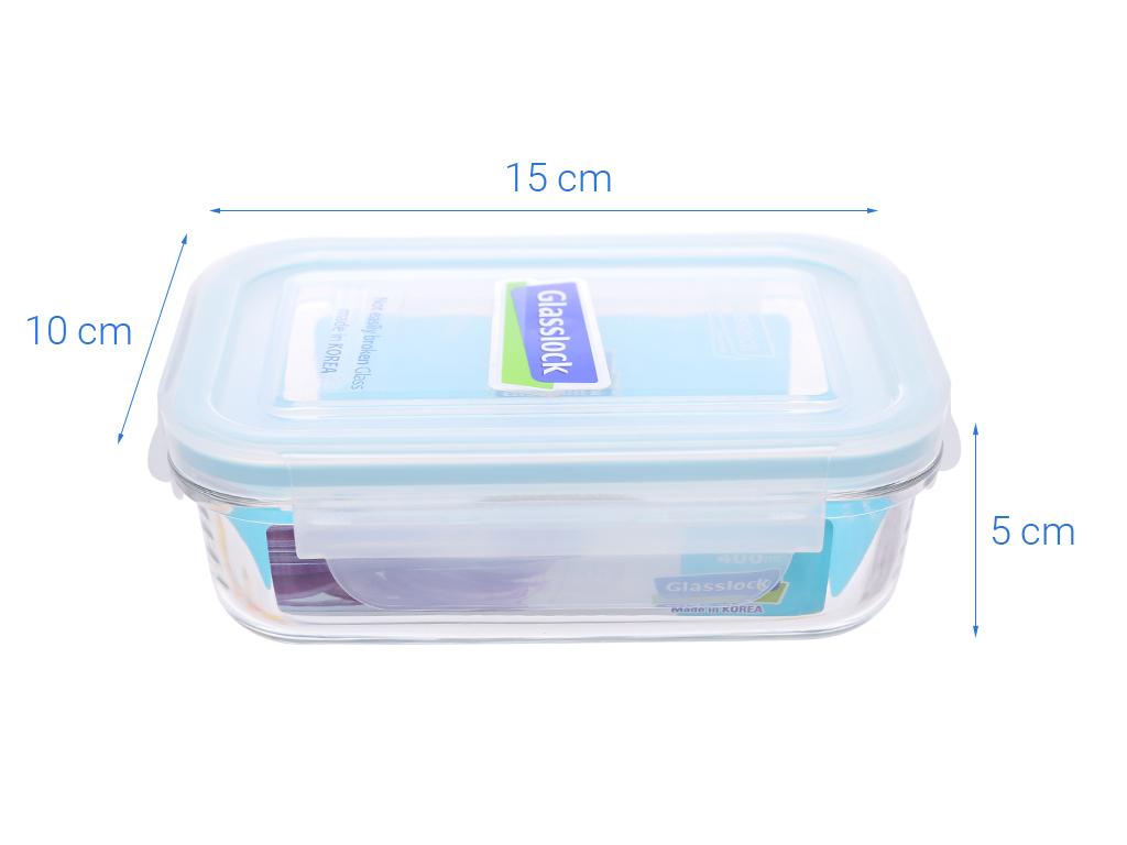 Bộ 2 hộp thủy tinh chữ nhật Glasslock và túi giữ nhiệt 3