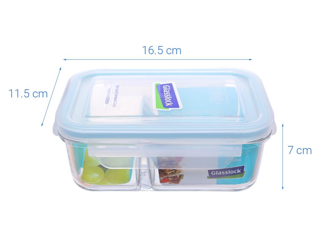 Bộ 2 hộp thủy tinh chữ nhật Glasslock và túi giữ nhiệt 4