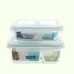 Bộ 2 hộp thủy tinh Glasslock Lunch Set 02-2