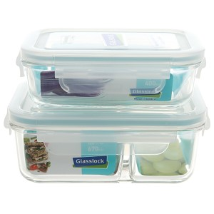 Bộ 2 hộp thủy tinh Glasslock Lunch Set 02-2 2 hộp
