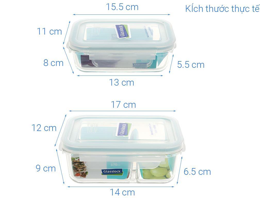 Bộ 2 hộp thủy tinh Glasslock Lunch Set 02-2 20
