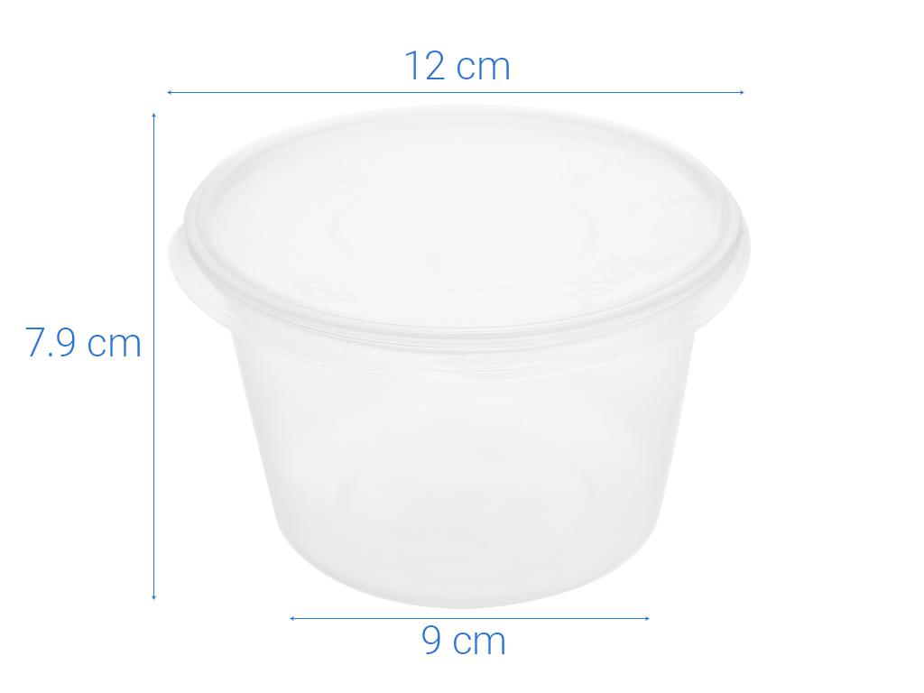 Bộ 10 hộp nhựa tròn Terasu 600ml 6