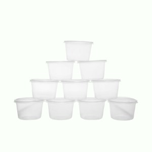 Bộ 10 hộp nhựa tròn Terasu 600ml