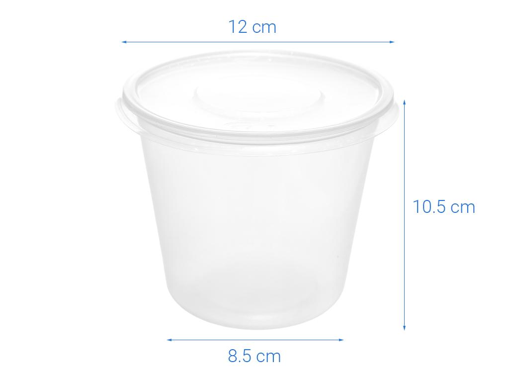 Bộ 10 hộp nhựa tròn Terasu 10 hộp 4