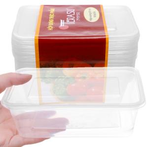 Lốc 10 hộp nhựa chữ nhật đựng thực phẩm Terasu 650ml