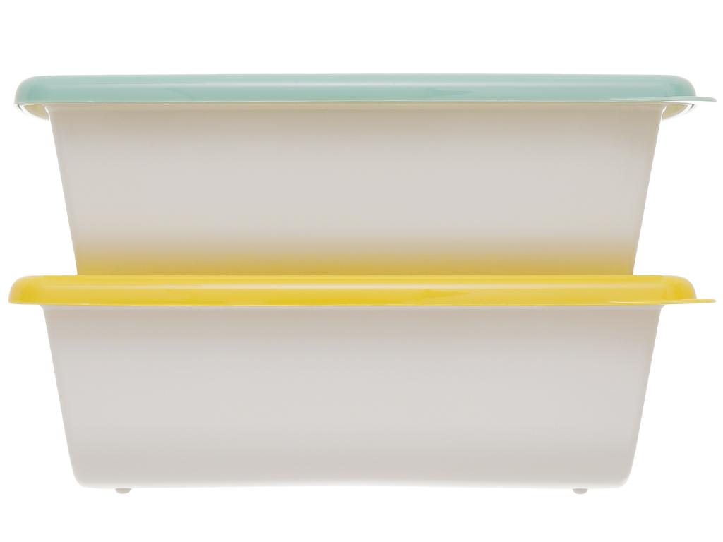 Bộ hộp nhựa chữ nhật 1000ml BHX PL-PN3433AX2-P1 2 cái 1