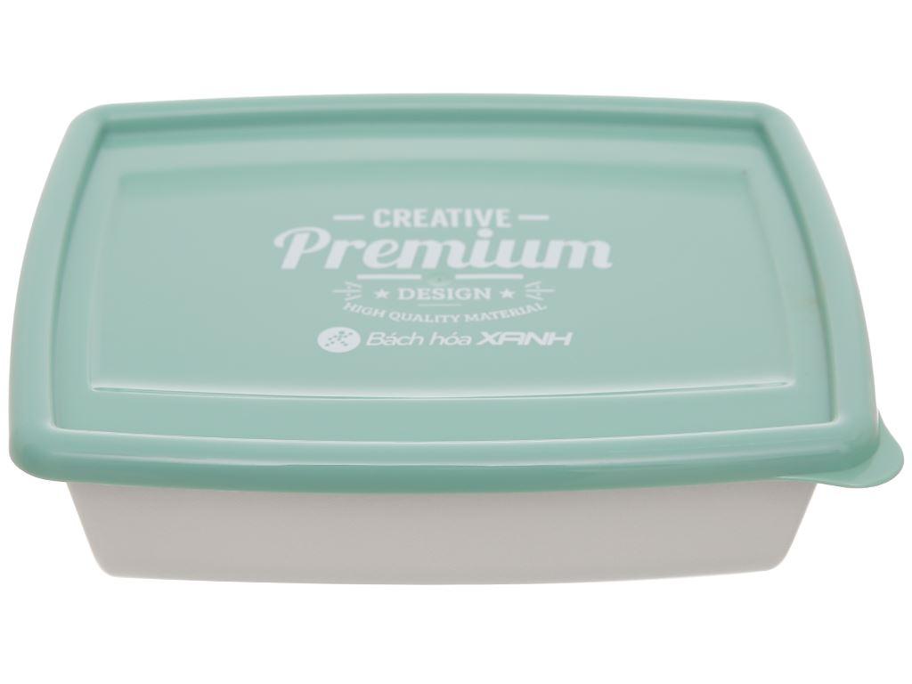 Bộ hộp nhựa chữ nhật 1000ml BHX PL-PN3433AX2-P1 2 cái 4