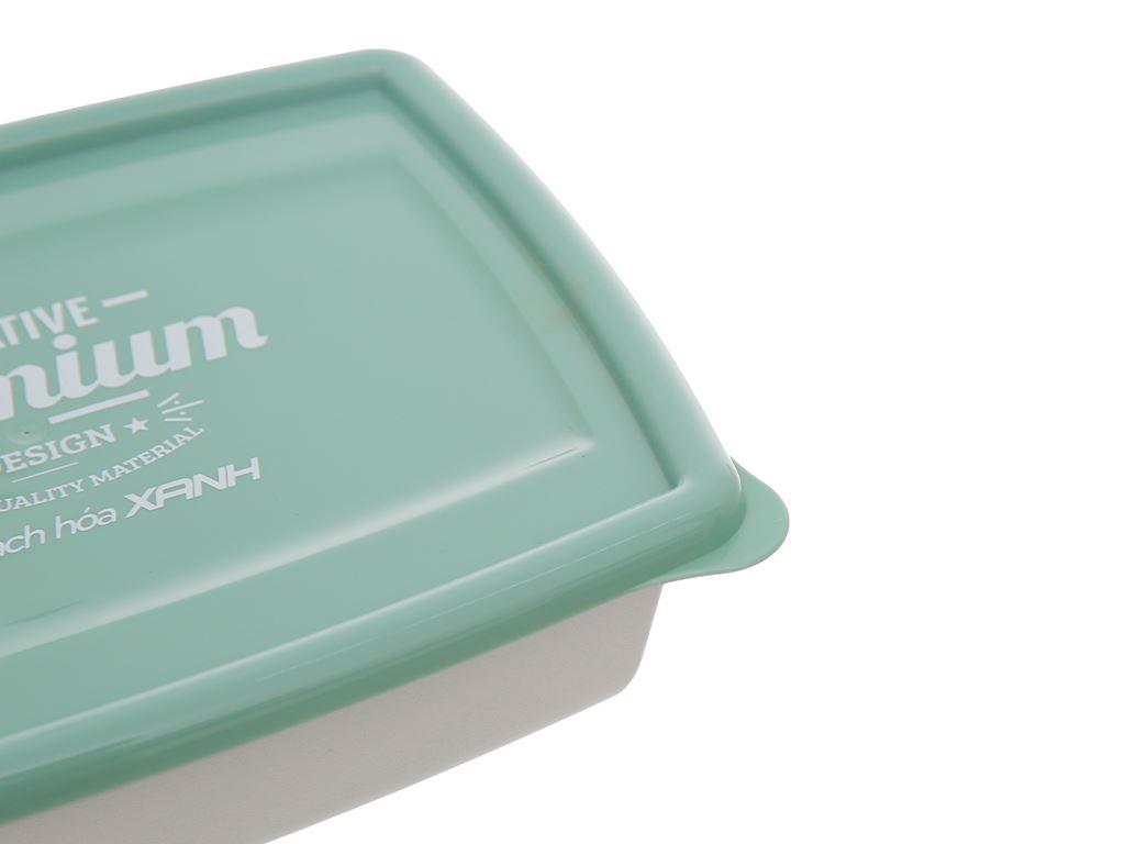Bộ hộp nhựa chữ nhật 1000ml BHX PL-PN3433AX2-P1 2 cái 8