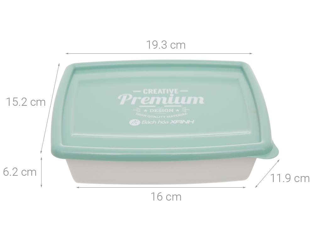 Bộ hộp nhựa chữ nhật 1000ml BHX PL-PN3433AX2-P1 2 cái 12